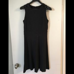 Ann Taylor Loft Black Knit Work Dress